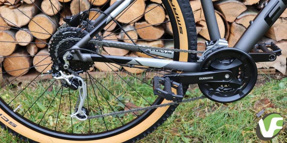 Komponenty na horském kole Focus