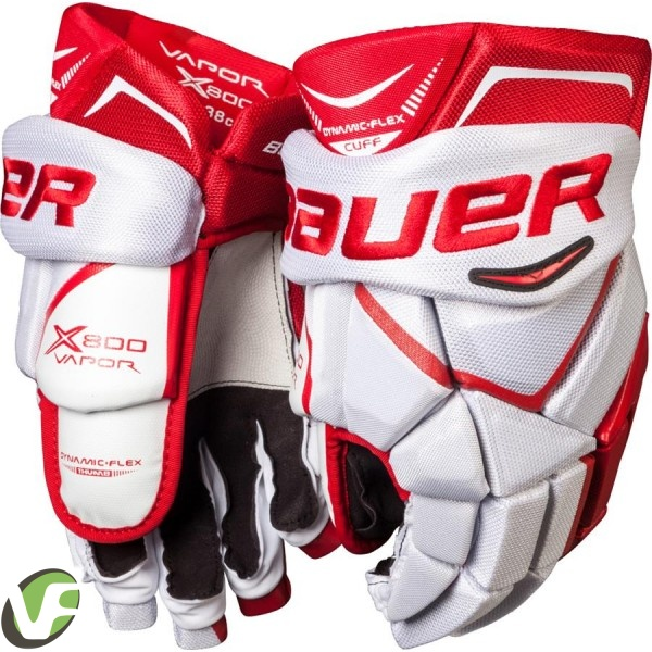 Hokejové rukavice Bauer Vapor X800 bílá červená (WRD) Sr senior ... 14d2c89758