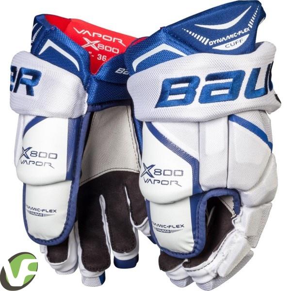 Hokejové rukavice Bauer Vapor X800 bílá tmavě modrá (WHN) Sr senior ... 52a2fbb297