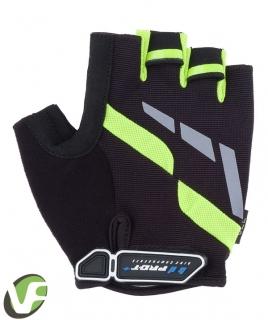 Cyklistické rukavice Pro-T Veneto černo-zelené fluor f4df3f325d