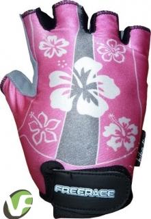 Dětské cyklistické rukavice Freerace Lisa růžové 1dd0cd4704
